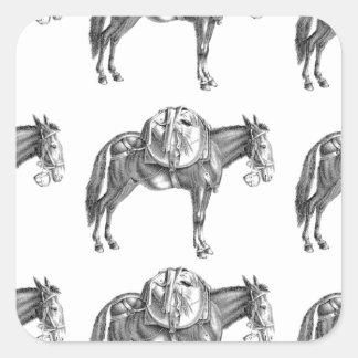 Sticker Carré prière de mule de paquet