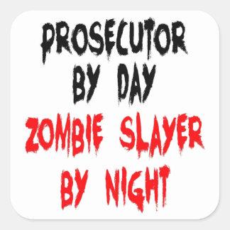 Sticker Carré Procureur de tueur de zombi