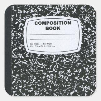Sticker Carré Professeur d'étudiant de livre de composition