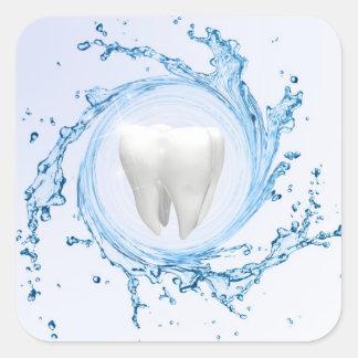 Sticker Carré Professionnel médical de dent de dentiste -