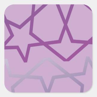 Sticker Carré Profil sous convention astérisque abstrait inspiré
