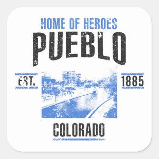 Sticker Carré Pueblo