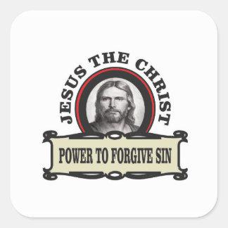 Sticker Carré puissance de pardonner le jc de péché
