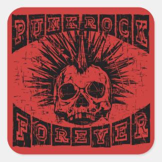Sticker Carré punk rock pour toujours