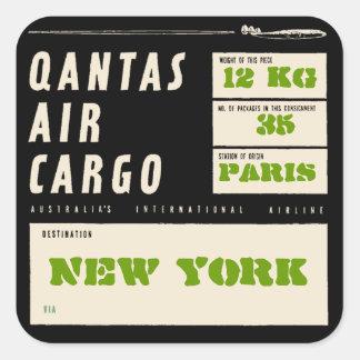 Sticker Carré QANTAS AIR CARGO (Black)