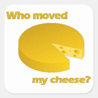 Sticker Carré Qui a déplacé le fromage