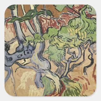 Sticker Carré Racines d'arbre de Vincent van Gogh |, 1890