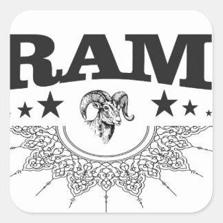 Sticker Carré RAM de l'étoile noire