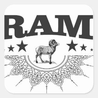 Sticker Carré RAM des moutons