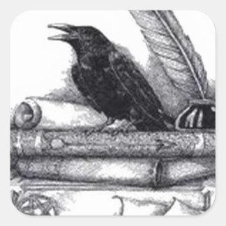 Sticker Carré Raven