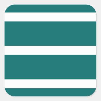 Sticker Carré Rayure turquoise audacieuse
