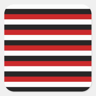Sticker Carré Rayures de drapeau du Trinidad-et-Tobago Yémen