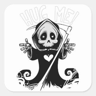 Sticker Carré Reaper-bébé mignon de Reaper-bande dessinée de