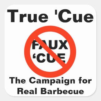 Sticker Carré Rectifiez les 'autocollants de Cue/CRBBQ