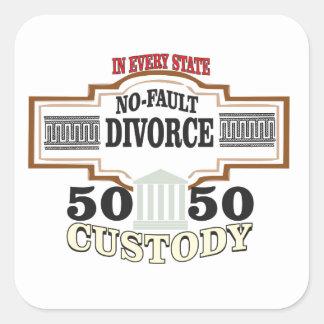 Sticker Carré réduisez la garde 50 50 automatique de divorces