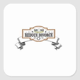 Sticker Carré réduisez la garde 50 du divorce 50