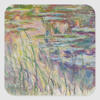 Sticker Carré Réflexions de Claude Monet   sur l'eau, 1917