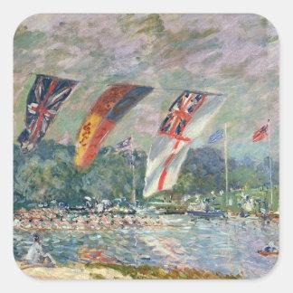 Sticker Carré Régate d'Alfred Sisley | chez Molesey