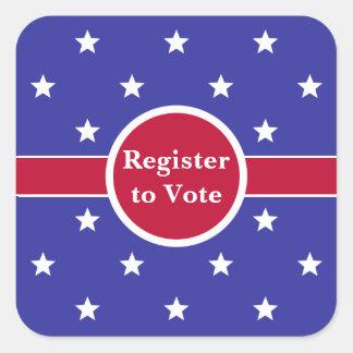 Sticker Carré Registre fait sur commande pour voter des