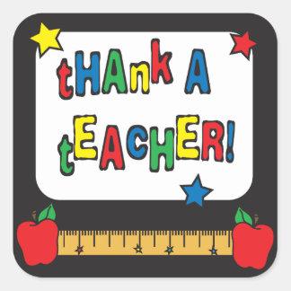 Sticker Carré Remerciez un professeur