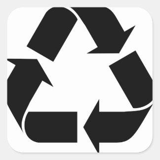 Sticker Carré Réutilisez le symbole