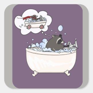 Sticker Carré Rêve de bain moussant