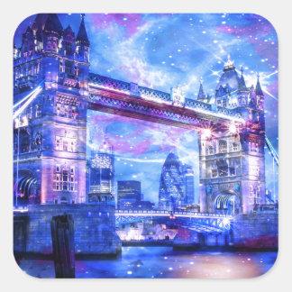 Sticker Carré Rêves de Londres de l'amant