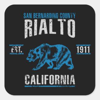 Sticker Carré Rialto