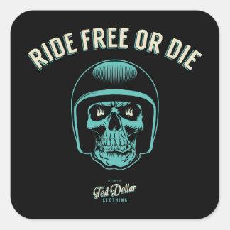 Sticker Carré Ride Free or Die