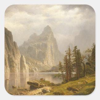 Sticker Carré Rivière de Merced, vallée de Yosemite