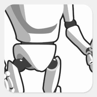 Sticker Carré Robot futuriste