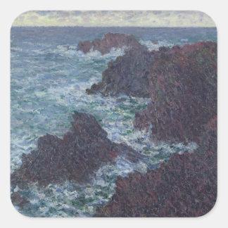 Sticker Carré Roches de Claude Monet | au Belle-Ile, la côte