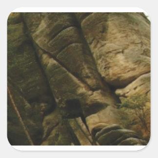 Sticker Carré roches grises de grondement