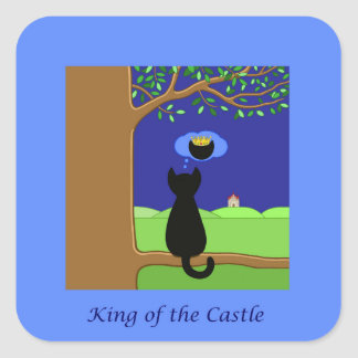 Sticker Carré Roi du château