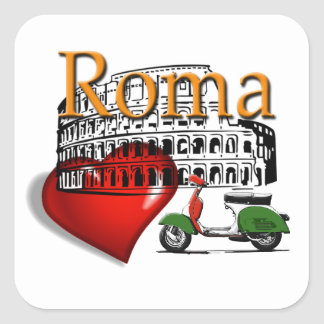 Sticker Carré Rome in my Heart