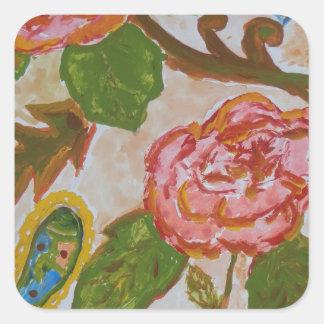 Sticker Carré Roses de paradis.jpg