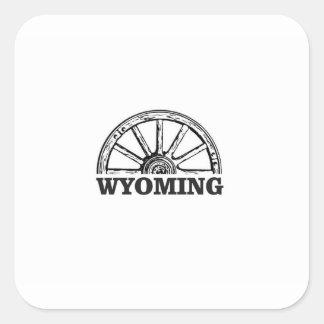 Sticker Carré roue du Wyoming