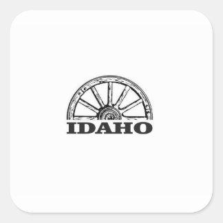 Sticker Carré Roues de l'Idaho