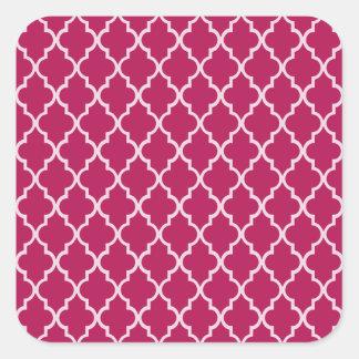 Sticker Carré Rouge de Granita, Hue fuchsia et motif marocain