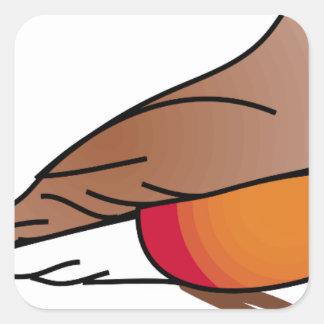 Sticker Carré rouge-merle