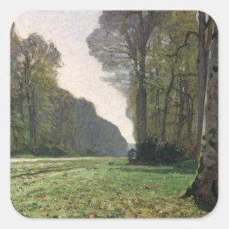 Sticker Carré Route de Claude Monet | à Bas-Breau, Fontainebleau