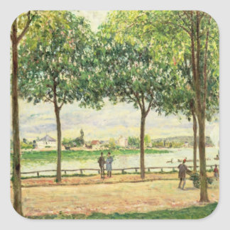 Sticker Carré Rue d'Alfred Sisley | des chataîgners