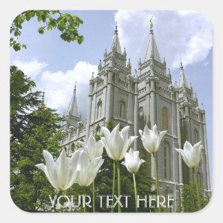 Sticker Carré Salt Lake Sity, temple de LDS