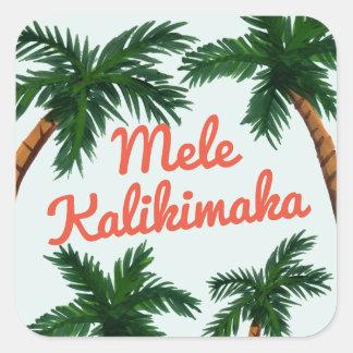 Sticker Carré Salutation d'île