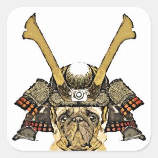 Sticker Carré samurai_pug