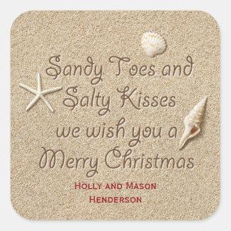 Sticker Carré Sandy botte l'autocollant salé de Joyeux Noël de