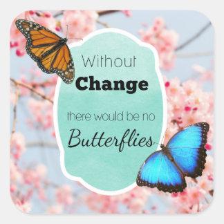 Sticker Carré Sans changement aucunes fleurs de cerisier de