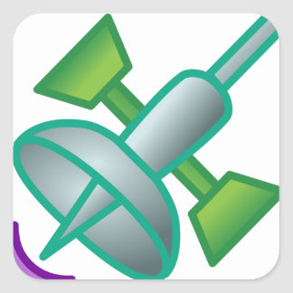 Sticker Carré Satellite