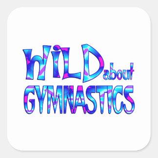 Sticker Carré Sauvage au sujet de la gymnastique