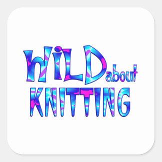 Sticker Carré Sauvage au sujet du tricot
